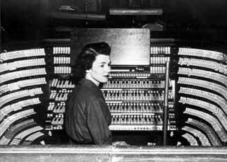 Wilma Jensen at the West Point Chapel organ, Westpoint, New York