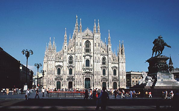 Facade of the Milan Cathedral