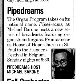 Pipedreams Announcement from the October 1983 issue of Minnesota Monthly