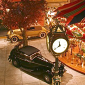 [Automobiles and carousel in the Milhouse Collection, Boca Raton]