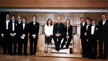 [The Interlochen Pipedreams Live 'Crew'.]