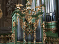 The splendid Rococo case of the 1752 Hencke organ in the monastery of Herzogenburg.