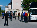 Loading the bus after our visit to Michelhausen.