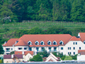 The Steigenberger Hotel on the outskirts of Krems among the wine terraces.