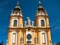 The facade of the monastery church at Stift Melk.