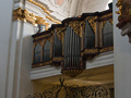 The oldest organ in Salzburg hangs in (and over) the loft in the Kajetaner Church.