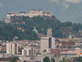 The view of Salzburg from the Maria Plain pilgrimage church located a few miles north of the city.