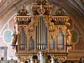This combination Renaissance-Baroque case contains a 1980 Beckerath organ.