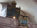 The 1797 Maleck organ in the gallery of the Berg Church in Eisenstadt.