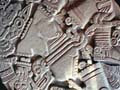 Intricate Aztec carving at Templo Mayor