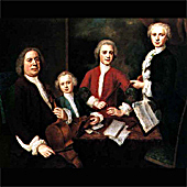 [Possible Portrait of Bach with his three sons.]