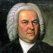 [Johann Sebastian Bach image from the Haussman portrait]